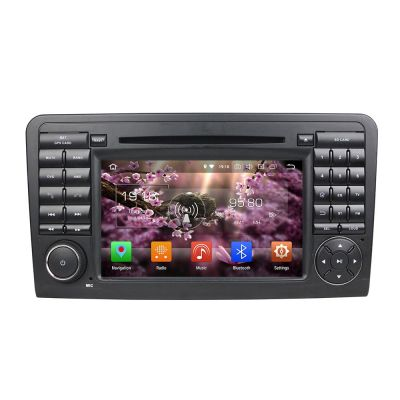 Belsee Aftermarket Android 8.0 Oreo Auto Head Unit Radio Replacement Mercedes-Benz M-Class W164 2005-2012 ML300 ML350 ML450 ML500 7 inch Touch Dual Screen Stereo Upgrade Audio Video DVD Player Carplay Android Auto Dab+ Wifi Octa 8 Core Navigation System
