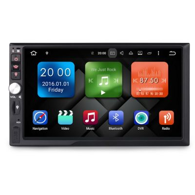 Belsee Best Android 8.0 Oreo Car Stereo Head Unit Double 2 Din Universal 7