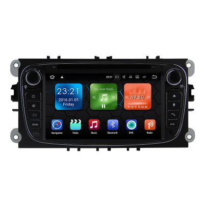 """Belsee Aftermarket 2 Din Android 8.0 Oreo Head Unit for Ford Mondeo Focus S-Max C-Max Galaxy 7"""" Touch Screen Sliver Octa Core DVD Player Receiver Ram 4GB Bluetooth Wifi DAB+"""