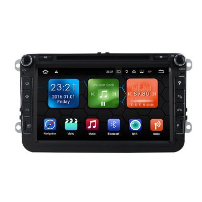 Belsee VW Volkswagen Head Unit Car DVD Player Radio GPS Navigation Android 8.0 Oreo Double Din Octa Core PX5 Ram 4GB Rom 32GB for Passat Golf Jetta Polo Tiguan T5 mk5 EOS Sharan Caddy CC