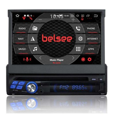 Belsee Best Aftermarket Android 9.0 Pie Auto Head Unit compatible Car Stereo Single 1 Din Radio Universal 7 Inch Touch Screen Octa Core Ram 4GB Rom 64GB GPS Navigation System Apple CarPlay Android Auto Sat Nav Multimedia Player Bluetooth