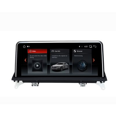 Belsee Aftermarket BMW X5 F15 E70 X6 E71 CIC CCC NBT iDrive ID6 EVO 2007-2017 Navigation Android 9.0 Auto Head Unit Radio 10.25 inch Touch Screen Upgrade Display Multimedia Player Audio Sound GPS System Apple CarPlay Android Auto Sat Nav PX6 Ram 4GB
