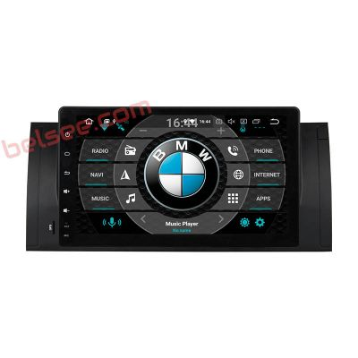 Belsee Best Aftermarket 9 inch Touch Screen BMW E39 1996-2003 E53 X5 M5 Android 9.0 Pie Auto Head Unit Car Radio Replacement Stereo Upgrade Sat Nav GPS Navigation System Multimedia Player Apple CarPlay Android Auto Octa Core PX5 Ram 4GB Bluetooth Receiver