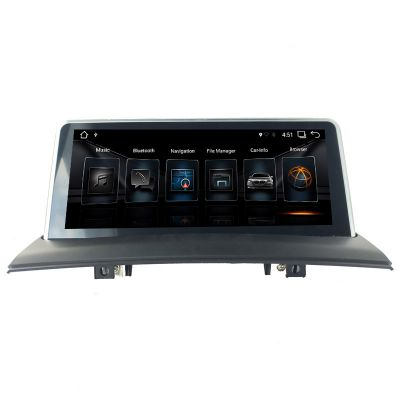 Belsee Aftermarket 10.25 inch BMW X3 E83 2004 2005 2006 2007 2008 2009 iDrive Multimedia Navigation System Android 9.0 Auto Radio Upgrade Head Unit Car Stereo Player PX6 Ram 4GB Apple CarPlay Android Auto Sat Nav Autoradio