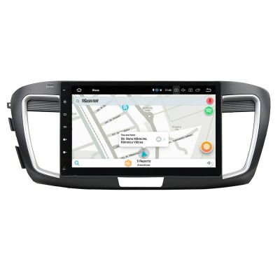 Belsee Best Aftermarket 10.1 Inch Touch Screen Android 8.0 Car Radio GPS Navigation Stereo Head Unit Part for Honda Accord 9 9th gen 2013 2014 2015 2016 2017 Low Level  Multimedia 4K Video Audio System Octa Core PX5 Ram 4GB Rom 32GB Bluetooth Wifi Carplay