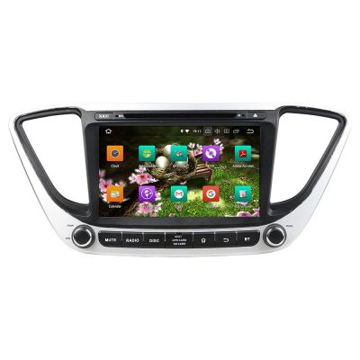 Belsee Aftermarket 8 inch Touch Dual IPS Screen Radio Android 8.0 Oreo Head Unit for Hyundai Verna Accent Solaris 2017 Car GPS Navigation Audio System Stereo Video Player 1024*600 Octa Core PX5 Ram 4GB Rom 32GB Wifi Bluetooth support Carplay Android Auto