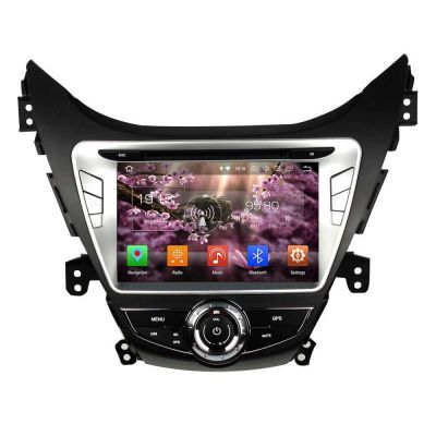 Belsee Aftermarket Car Stereo Upgrade Android 8.0 Oreo Head Unit for Hyundai Elantra Avante i35 2011 2012 2013 8 inch Touch Dual Screen Radio GPS Navigation Audio System Octa Core PX5 Ram 4GB Rom 32GB Wifi Bluetooth Multimedia Support Carplay Android Auto
