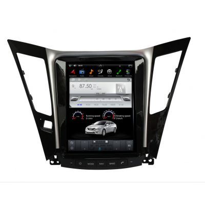 Belsee 10.4 Inch Tesla Style Vertical Touch Screen Android 7.1 Nougat Navi Radio Head Unit for Hyundai Sonata 2012 2013 2014 in-dash GPS Navigation Receiver Audio Video Car Stereo Player Multimedia Quad Core PX3 Ram 2GB Rom 32GB Bluetooth Wifi Carplay