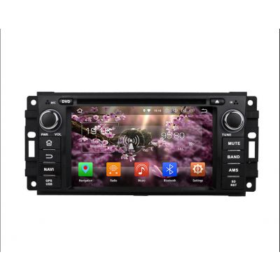 Belsee Aftermarket Android 8.0 Oreo Auto Radio Head Unit for Jeep Wrangler Grand Cherokee Compass Dodge Journey Caliber Sebring Chrysler 300C 6.2 inch Touch Screen Stereo Upgrade GPS Navigation Audio System Octa Core PX5 Ram 4GB Rom 32GB Carplay Mirroring