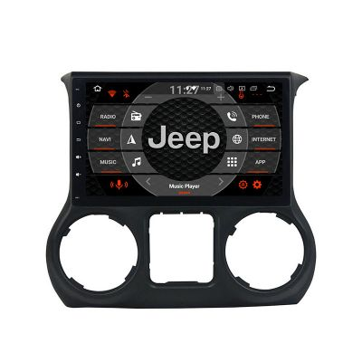 Belsee Android 9.0 Auto Head Unit PX6 Car Radio Replacement Stereo Upgrade for Jeep Wrangler JK 2011 2012 2013 2014 2015 2016 2017 2018 10.1 inch IPS Touch Screen In Dash GPS Navigation System Apple CarPlay Android Auto Bluetooth 4G LTE Ram 4GB Rom 64G