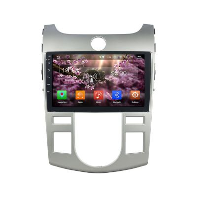 Belsee Aftermarket Android 8.0 Oreo Head Unit Auto Stereo Car Radio for Kia Forte Cerato 20008-2012 9 inch Touch Dual IPS Screen GPS Navigation System Octa Core PX5 Ram 4GB Rom 32GB Wifi Bluetooth Google Maps support Carplay Android Auto Steering wheel