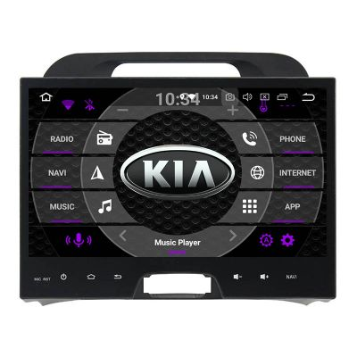 Belsee Best Aftermarket Kia Sportage 2010-2015 Android 9.0 Pie Auto Head Unit Car Radio Replacement Stereo Upgrade 10.1 inch Touch Screen GPS Navigation System Octa Core PX5 Ram 4GB Rom 64GB Apple CarPlay Android Auto Multimedia Player