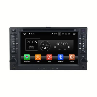 Belsee  Aftermarket Double 2 Din Android 8.0 Oreo Auto Stereo Head Unit Car DVD Video Player Universal Radio Replacement for KIA Cerato Sportage CEED Sorento Spectra Optima Rondo Rio Sedona Carens Octa Core PX5 Ram 4GB Rom 32GB GPS Navigation System