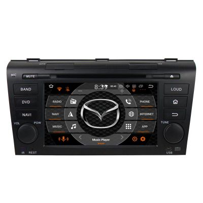 Belsee Best Aftermarket Android 8.0 Auto Head Unit Replacement Car Radio DVD Multimedia Player for Mazda 3 2004 2005 2006 2007 2008 2009 In Dash GPS Navigation Audio Sound System 7 inch Touch Screen Octa Core PX5 Ram 4GB Rom 32GB Bluetooth Stereo Upgrade