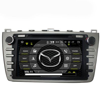 Belsee Android 9.0 Auto Radio Replacement Car Stereo Upgrade Head Unit for Mazda 6 Ruiyi Ultra 2008 2009 2010 2011 2012 8 inch Touch Screen IPS DSP GPS Navigation Audio System Part DVD CD Multimedia Player Apple CarPlay Android Auto Octa Core PX5 Ram 4GB