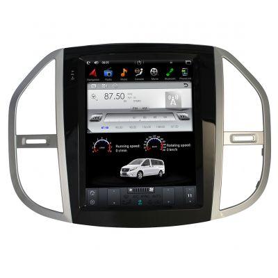 Belsee Android 7.1 Nougat Tesla Vertical Screen 12.1 Inch IPS Stereo Car Head Unit Radio Autoradio for Mercedes-Benz Metris 2016 2017 2018 Multimedia Player GPS Navigation System Quad Core PX3 Ram 2GB Rom 32GB Sat Nav Audio Carplay Wifi Bluetooth