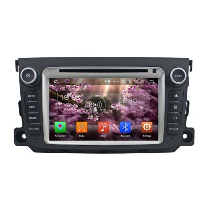 Belsee Aftermarket Android 8.0 Oreo 2 Din Head Unit Autoradio Stereo GPS Navigation for Mercedes-Benz Smart Fortwo 2011 2012 2013 2014 7 inch touch Dual IPS Screen Radio Audio 4K Video DVD Player System Octa 8 Core PX5 Ram 4GB Rom 32GB Wifi Bluetooth
