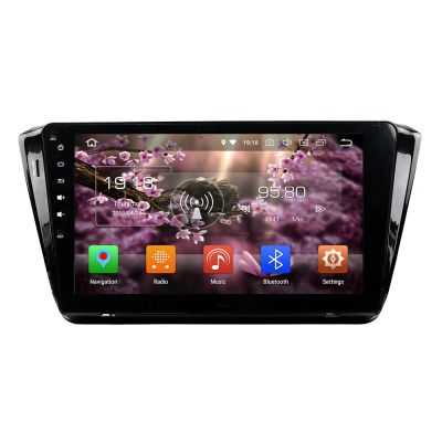 Belsee Aftermarket for Skoda Superb 2015 2016 2017 Android 8.0 Oreo Auto Head Unit Music Audio Video System 10.1 Inch Touch IPS Dual Screen Radio Stereo Naivgation GPS Octa Core PX5 Ram 4GB Rom 32GB Bluetooth Wifi Carplay Android Auto Mirror Link OBD2 USB