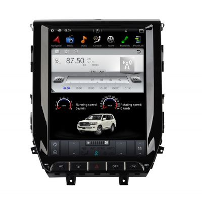 Belsee Aftermarket 12.1 Inch Tesla Style Vertical Touch Screen Android 7.1 Car Radio Stereo for Toyota Land Cruiser LC200 2016 2017 2018 Auto Head Unit Multimedia Player Bluetooth WIfi GPS Navigation Quad Core PX3 Ram 2GB Rom 32GB support Apple Carplay