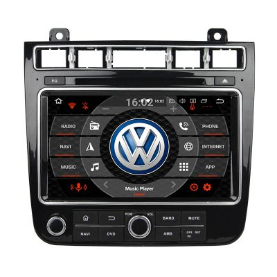 Belsee Aftermarket Auto Radio Stereo Upgrade Head Unit Android 8.0 Navigation System Replacement Part for Volkswagen VW Touareg 2015 2016 2017 Apple Car Player Android Auto Octa Core PX5 Ram 4GB Rom 32GB Car DVD Multimedia Player GPS Sat Navi Bluetooth