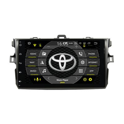 Belsee Best Aftermarket Android 9.0 Pie Auto Radio Stereo Upgrade Head Unit for Toyota Corolla 2006 2007 2008 2009 2010 2011 9 inch IPS Touch Screen Multimedia Player Apple Carplay Android Auto Octa core PX5 Ram 4GB Rom 64GB GPS Navigation System