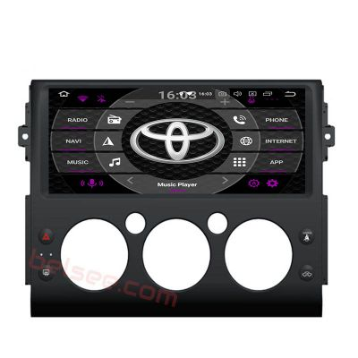 Belsee Best Aftermarket Toyota FJ Cruiser 2006-2017 Android 9.0 Pie Auto Head Unit Stereo Upgrade Car Radio Replacement 12.3 inch IPS Touch Screen GPS Navigation System Octa Core PX5 Ram 4GB Rom 32GB Black Color Apple Car Play Android Auto