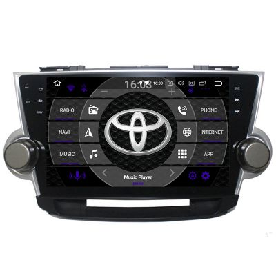 Belsee Aftermarket Android 8.0 Oreo 2 Din Head Unit Stereo Radio Upgrade for Toyota Highlander Kluger 2008-2014 10.1 inch Touch Dual IPS Screen GPS Navigation System Car Video Bluetooth Receiver Octa Core PX5 Ram 4GB Rom 32GB supprt carplay Android Auto