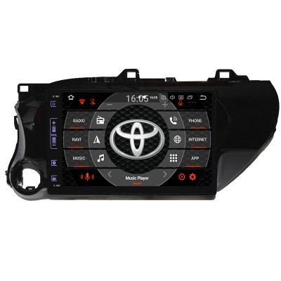 Belsee Aftermarket Android 9.0 Pie Auto Head Unit Stereo Upgrade Car Radio Replacement for Toyota Hilux 2016 2017 2018 2019 10.1 inch IPS Touch Screen GPS Navigation System Audio Video Multimedia Player Apple Car Player Android Auto Octa Core Ram 4GB 64GB