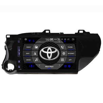 Belsee Aftermarket 10.1 Inch Touch Screen Android 8.0 Oreo Auto Radio Stereo Car Head Unit for Toyota Hilux 2016 2017 2018 Octa Core PX5 Ram 4GB Rom 32GB GPS Navigation Sound System Multimedia Player Audio Bluetooth Wifi OBD2 Apple Carplay