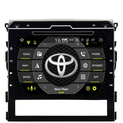 Belsee 9 Inch IPS Touch Screen Android 8.0 Oreo Head Unit for 2015 2016 Toyota Land Cruiser LC200 200 Replacement Radio Aftermarket Stereo GPS Navigation System Audio Video Multimedia Player Octa Core PX5 Ram 4GB Rom 32GB Support CarPlay Android Auto