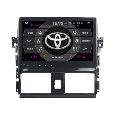 Belsee 10.1 inch IPS Touch Screen Android 8.0 Auto Head Unit Multimedia Player for Toyota Vios Yaris 2013-2018 Car Radio Replacement Stereo Upgrade Parts Octa Core PX5 Ram 4GB Rom 32GB Android Auto Apple Car Play Wifi Bluetooth GPS Navigation System