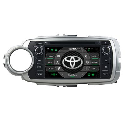 Belsee Aftermarket Android 8.0 Auto Head Unit Stereo Upgrade Car Radio Replacement for Toyota Yaris 2012-2018 In Dash GPS Navigation System Octa Core PX5 Ram 4GB Rom 32GB Multimedia Player Audio Video 4K Receiver Parts Android Auto Apple Carplay Bluetooth