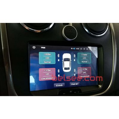 Car External TPMS USB Tire Pressure Monitoring System Receiver for Android Auto Head Unit Radio DVD Player suit for Toyota VW Nissan Hyundai and All Cars