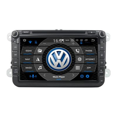 Belsee Aftermarket Android 8.0 Oreo Head Unit Autoradio Car DVD Player Radio for VW Volkswagen Polo Golf Jetta Passat CC Tiguan EOS Caddy Amarok Skoda Seat Leon 8 inch Touch IPS Screen Stereo Multimedia Audio GPS Navigation System Wifi Bluetooth