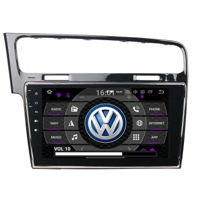Belsee Aftermarket 2012-2019 Volkswagen VW Golf 7 MK7 Android 9.0 Pie Auto Head Unit Autoradio Stereo Upgrade GPS Navigation System 10.1 inch IPS Touch Screen Multimedia Player Apple Car Play Android Auto Bluetooth Octa Core PX5 Ram 4GB Rom 64GB Receiver