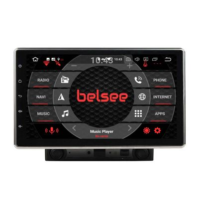 Belsee Aftermarket Best 10.1 inch Android 9.0 Pie Double 2 Din Car Stereo Auto Radio Head Unit Universal IPS Touch Screen Built in DSP Amplifier PX5 Hexa Core Ram 4GB Rom 64G In Dash GPS Navigation System Audio Video Multimedia Player Tablet Apple Carplay