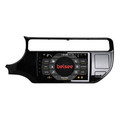 Belsee Best Aftermarket Kia Rio 2015-2018 9 inch Touch Screen Radio Replacement Stereo Upgrade Android 10 Auto Wireless Apple CarPlay Head Unit GPS Navigation System Multimedia Player PX5 Wifi Bluetooth PX6 Sat Nav Audio Video Music Sound