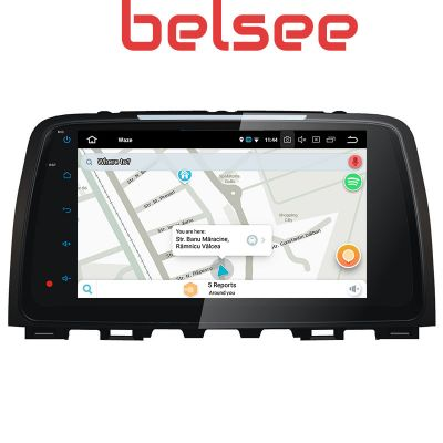 Belsee Best Aftermarket Mazda 6 Atenza 2013 2014 2015 2016 2017 Android 9.0 Pie Auto Head Unit Car Radio Replacement Stereo Upgrade 9 inch IPS Touch Screen GPS Navigation System Multimedia Player Octa Core PX5 Ram 4GB Rom 32GB Apple CarPlay Android Auto