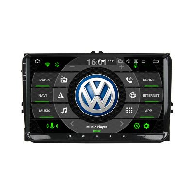Belsee Best Aftermarket Stereo Android 10 Q Auto Head Unit 9 inch Touch IPS Dual Screen Radio Upgrade In Dash Car GPS Navigation System for VW MK4 MK5 Golf Passat Jetta Tiguan Amarok CC Beetle Polo Sharan Eos Caddy Seat Skoda