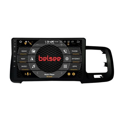 Belsee Best Aftermarket 10.1 inch Touch Screen Wireless Android 10 Auto Apple CarPlay Radio Replacement Head Unit for Volvo S60 S60L V60 2011-2018 Stereo Upgrade GPS Navigation System Audio Multimedia Player PX6 Wifi Bluetooth Sat Nav
