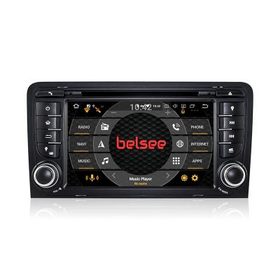 Belsee Aftermarket Android 9.0 Head Unit Car Radio Replacement Stereo Upgrade for Audi A3 8P S3 RS3 2003-2012 DAB+ Autoradio 7 inch Screen In Dash GPS Navigation System Ram 4GB Octa Core PX5 Apple CarPlay Android Auto Multimedia Audio Video DVD CD Player