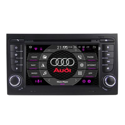 Belsee Best Aftermarket Car Radio Replacement DVD Player Stereo Upgrade for Audi A4 B7 B6 S4 RS4 SEAT Exeo 2002-2007 PX5 Octa Core Android 10 Auto 7 inch Touch Screen Head Unit Apple CarPlay Sat Nav Bluwtooth Wifi Steering Wheel Control
