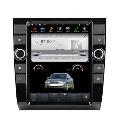 Belsee for Audi A4 2002-2008 SEAT Exeo 2010+ 10.4 inch IPS Tesla Style Vertical Screen Android 9 Auto Apple CarPlay Head Unit Stereo Upgrade Radio Replacement GPS Navigation Audio System PX6 DSP Multimedia Player Sat Nav Bluetooth Wifi DAB
