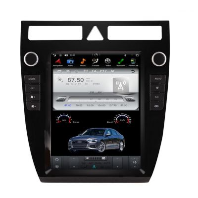 Belsee Best Aftermarket Android 9.0 Auto Head Unit 10.4 inch IPS Touch Tesla Style Screen for Audi A6 1997-2004 Stereo Upgrade PX6 Radio Replacement Audio GPS Navigation System Multimedia Player Bluetooth Apple CarPlay Wifi DAB