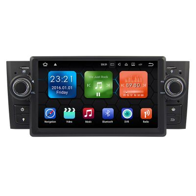 Belsee Autoradio Fiat Punto Linea Android 8.0 Oreo Car Radio Head Unit Multimedya Player Rockchip PX5 Octa Core Ram 4GB Rom 32GB Mirror Link In Dash Single 1 Din GPS Navigation System