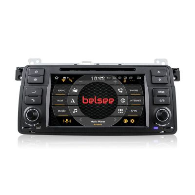 Belsee Best Aftermarket BMW 3 Series E46 M3 Head Unit Upgrade Sat Nav Replacement Android 9.0 Auto Radio Car Stereo 7 Inch DVD Multimedia Player Video Audio GPS Navigation System Octa Core PX5 Ram 4GB Apple CarPlay Android Auto