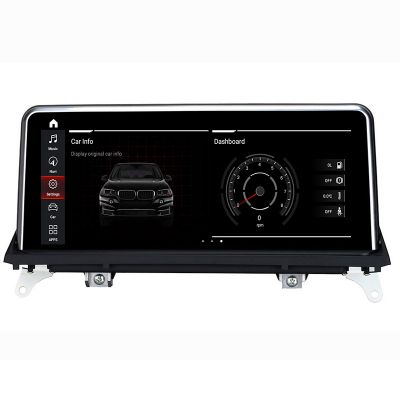 Belsee Aftermarket BMW X5 F15 E70 X6 E71 CIC CCC NBT iDrive ID6 EVO 2007-2017 Navigation Android 10 Q Auto Head Unit Radio 10.25 inch Touch Screen Upgrade Display Multimedia Player Audio Sound GPS System Apple CarPlay Android Auto Sat Nav Ram 4GB Rom 64G