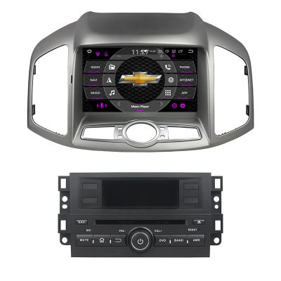 Belsee Best Aftermarket Android 10 Q Auto Head Unit Radio Replacement Stereo Upgrade for Chevrolet Chevy Captiva 2011-2016 8 inch IPS Touch Screen DVD CD Multimedia Player GPS Navigation System PX6 Ram4G Rom 64GB DSP Bluetooth Wifi Apple CarPlay