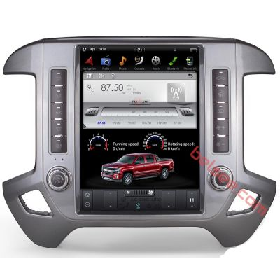 Belsee Best Aftermarket Tesla Style Android 9.0 Auto Head Unit Radio Replacement Stereo Upgrade for Chevrolet Chevy Silverado GMC Sierra VIA Vtrux Truck 2014-2019 12.1 inch Touch Screen Display GPS Navigation Audio System Multimedia Player Apple CarPlay