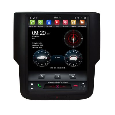 Belsee Best Aftermarket Tesla Style Screen Android 9 Auto Head Unit Radio Replacement Stereo Upgrade for Dodge Ram 1500 2500 3500 2013-2019 In Dash GPS Navigation Audio Multimedia Player System Apple CarPlay Bluetooth Wifi 9.7 inch Screen IPS DSP